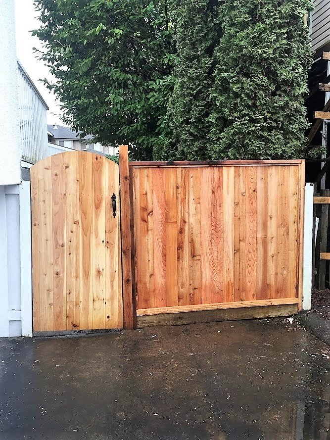 installed new fence panel and gate