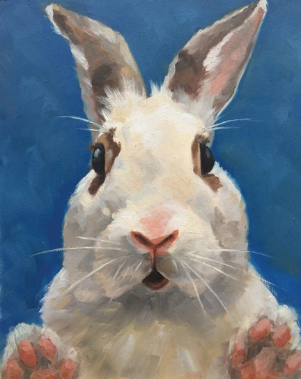 """WTF . . . 8"""" x 10"""" / sold oil on birch panel"""