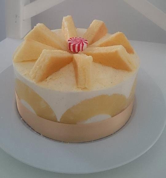 Cheesecake ananas rôti