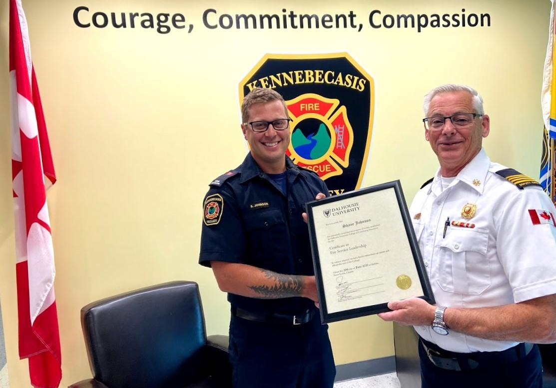Senior Firefighter Shane Johnson