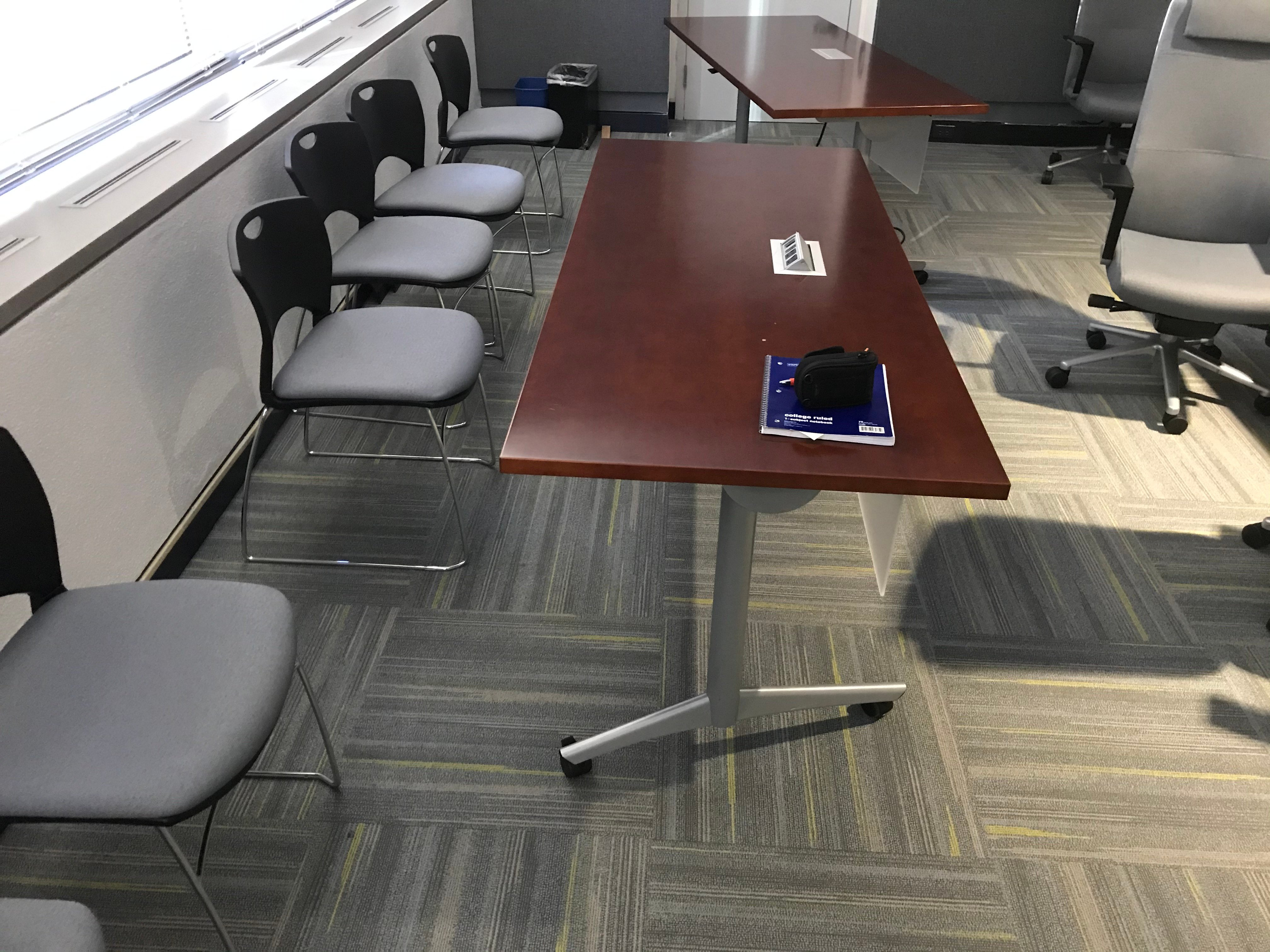 Moveable Conference Table with Outlet Plugs