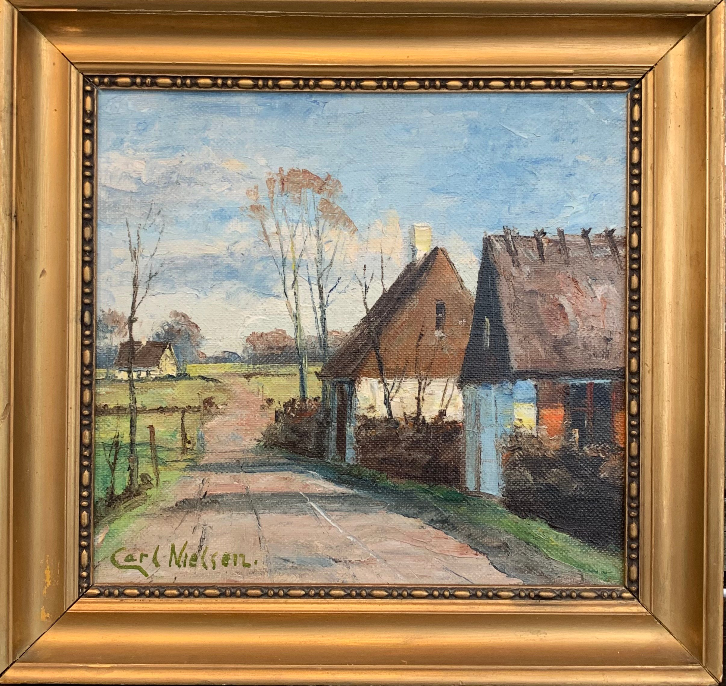 "Carl Nielsen, Untitled, Oil on panel, not dated, 15.5"" x 14"" Value  $100"