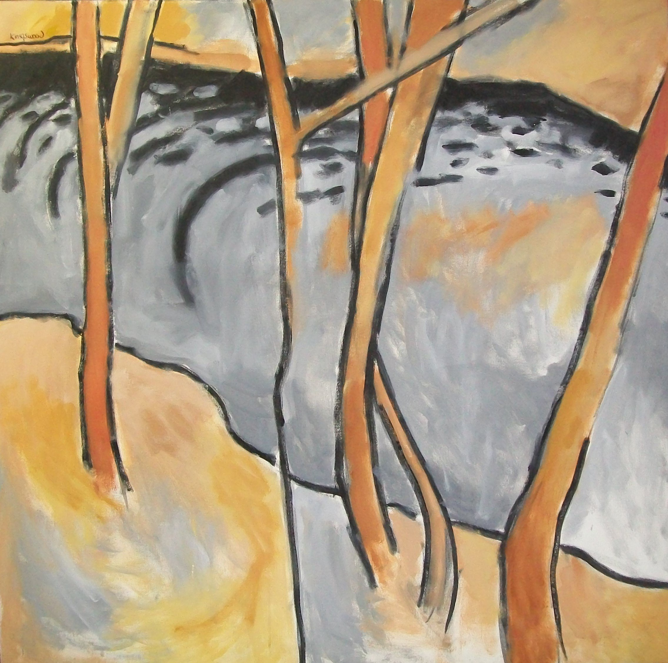 Winter Stream, 1994, oil on canvas