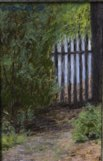 """Beyond the Gate"" 4"" x 6"" Alkyd on hard board  $375"