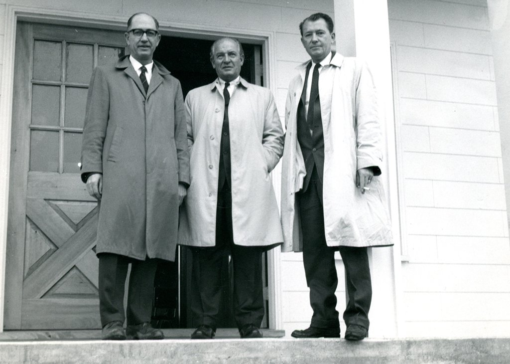 Keith Ingersoll (far left) at opening of Museum in 1967