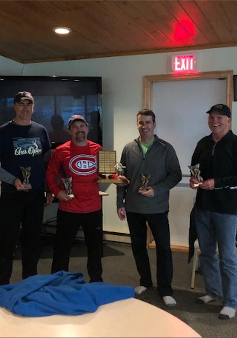 Men's League Regular Season Points Winners:  Derek Druhan, Edmund MacDonald, Johnathon MacDonald and Donald Tait