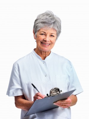 Nurse Filling Resident Chart