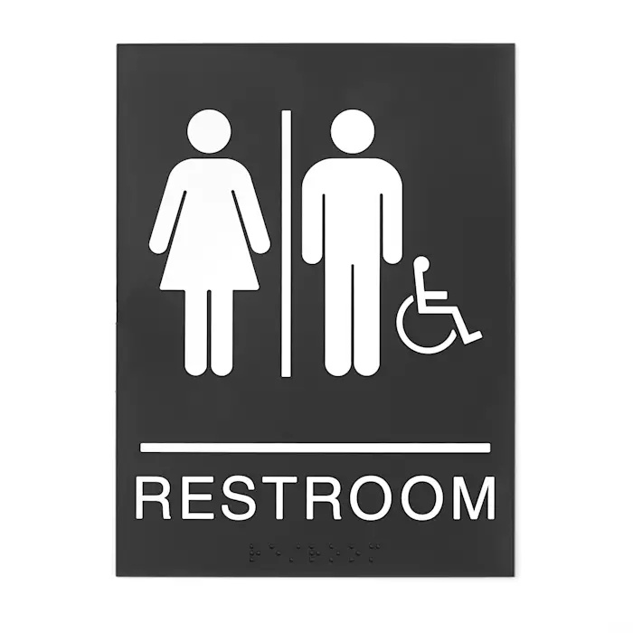 Gender Neutral Restroom Signs