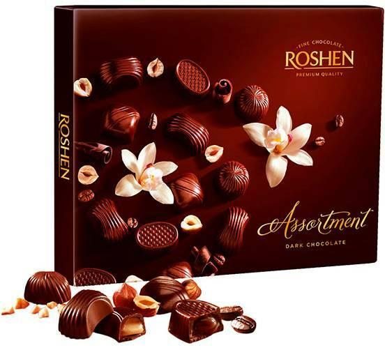 RSHN154DK Roshen Assortment - Dark Chocolate 154 gr