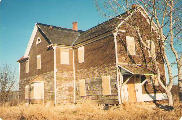 The OBH boarded   up and abandoned c. 1987. Photo Credit: Marilee Cranna Toews