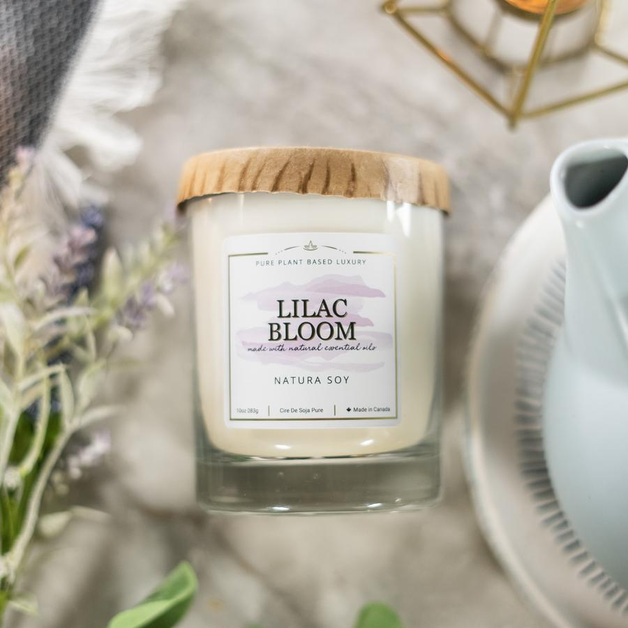 Lilac Bloom Lilac petals and sweet honeysuckle bloom with hints of ylang ylang, and sheer vetiver mist.