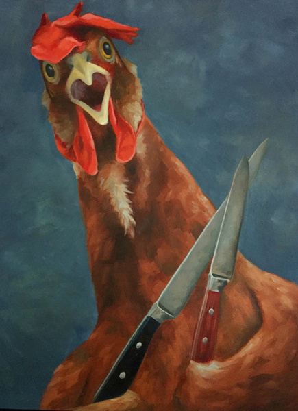 "It was Self Defense 18"" x 24"" oil on canvas"