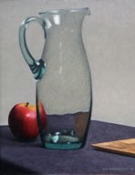 """Pear, Spoon and Glass Vase"" Alkyd on hardboard $ 1700"