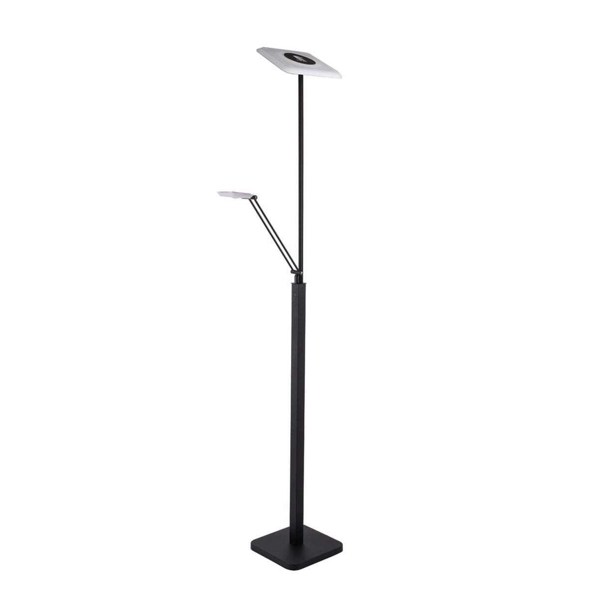 148 FL5020 BLK LED Torchiere With Reading Light Available in Black or Satin Nickle Regular Price $226.99 Sale Price $158.99