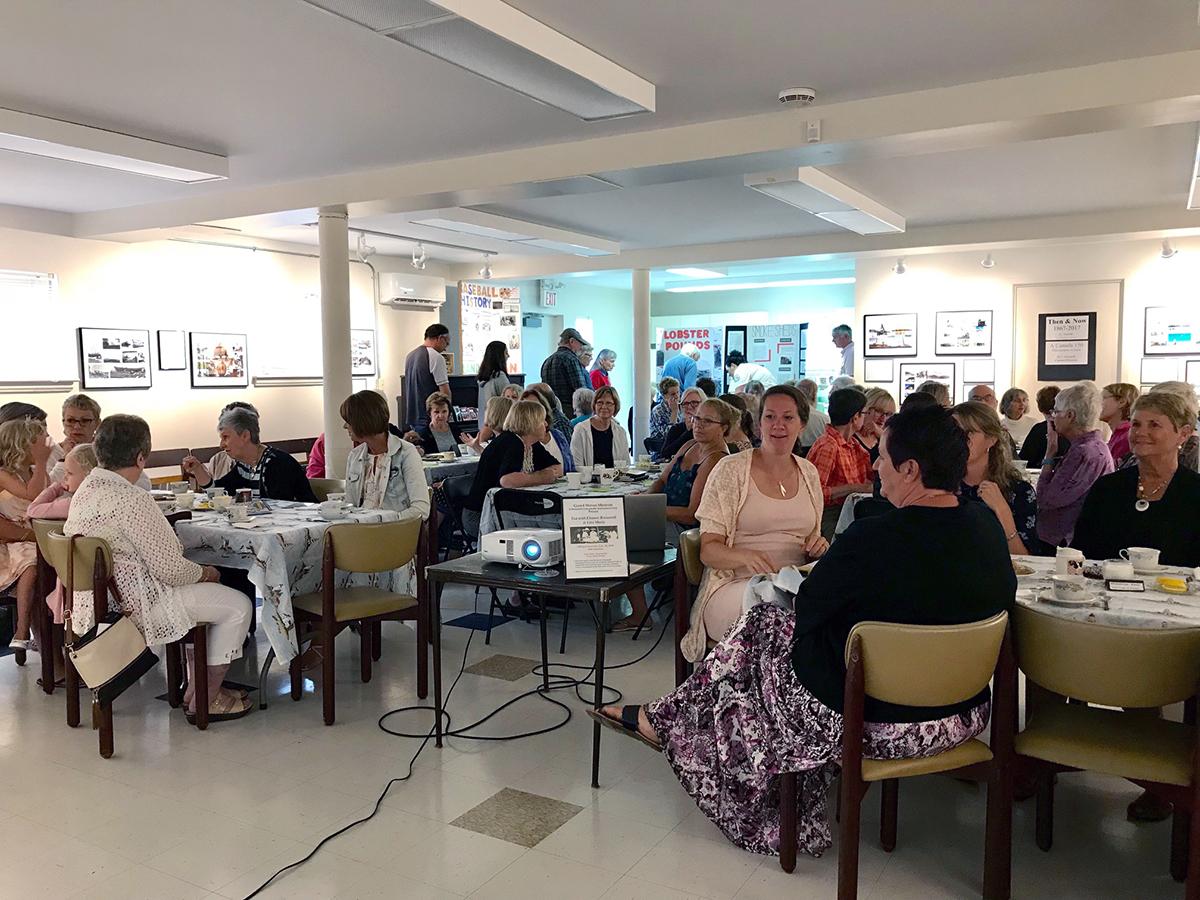 Tea With Eleanor event with Roosevelt Campobello International Park staff, 2019.