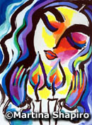 Woman Blessing Candles Jewish Shabbat painting