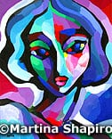 Woman In Purple original abstract painting female portrait fine art