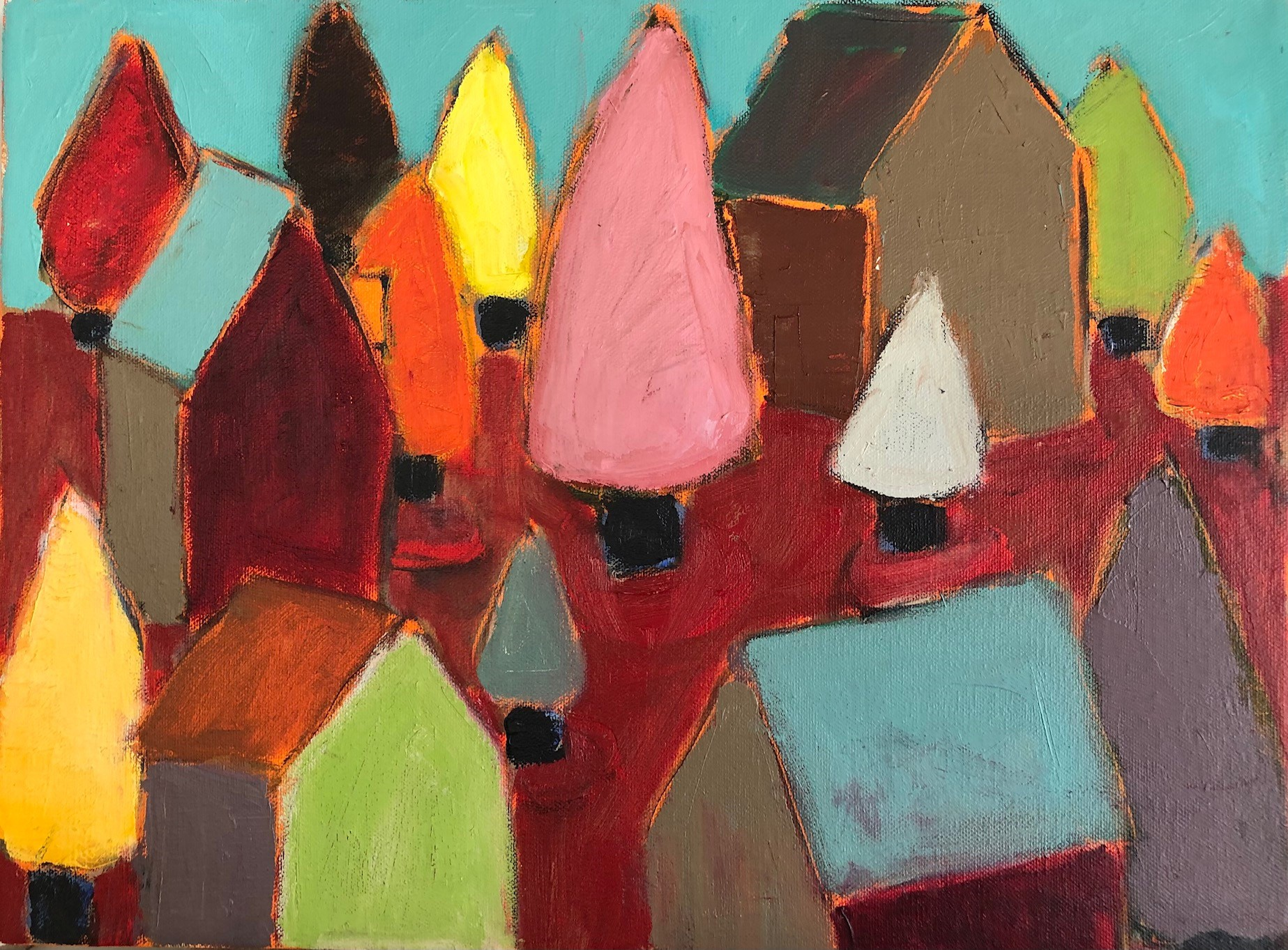 "Woodlot 12"" x 16"", Oil on canvas $300"