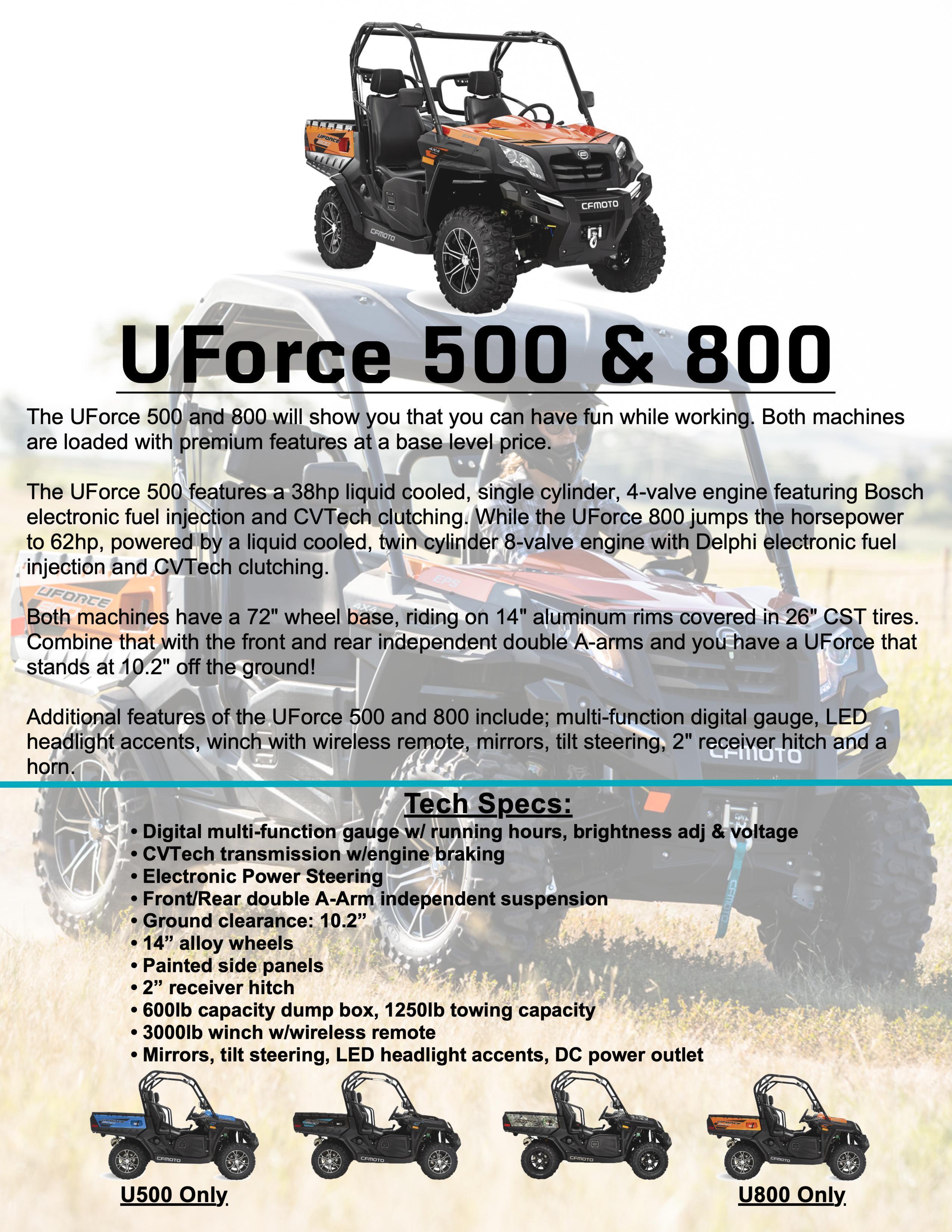 UFORCE 500/800