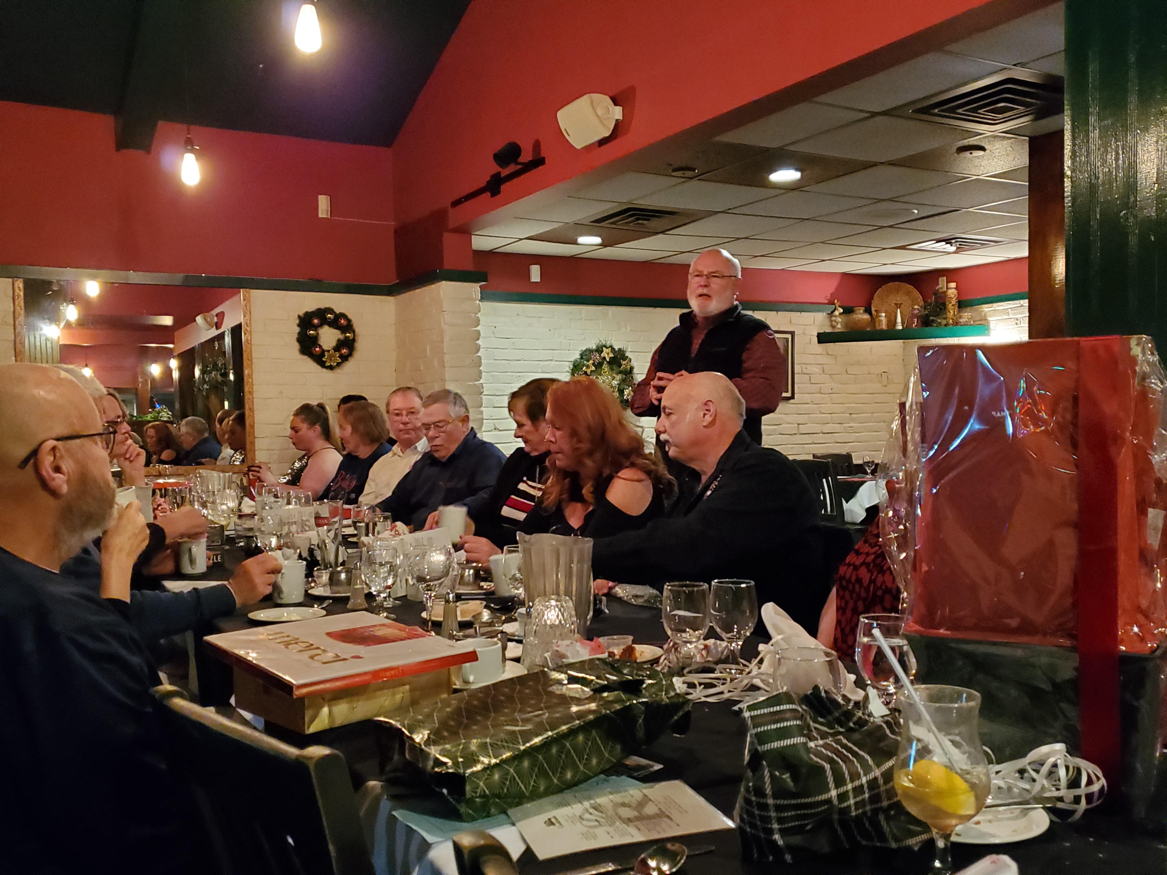 Director addressing the Members @ HOG Christmas Dinner