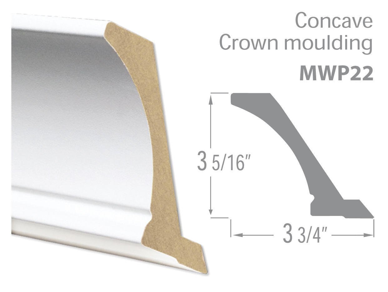 Concave Crown moulding