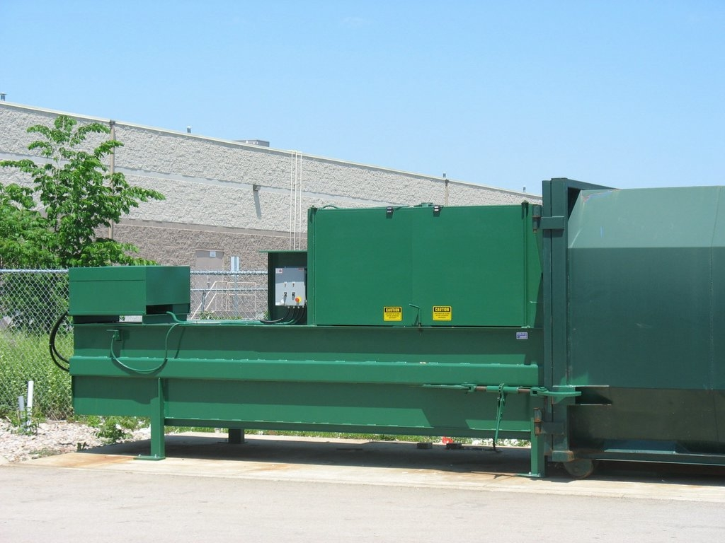 3000 Stationary Compactor with Side Feed Cabinet