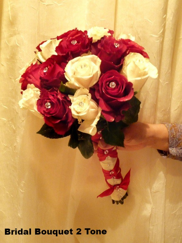 Bridal Bouquet 2 tone Roses