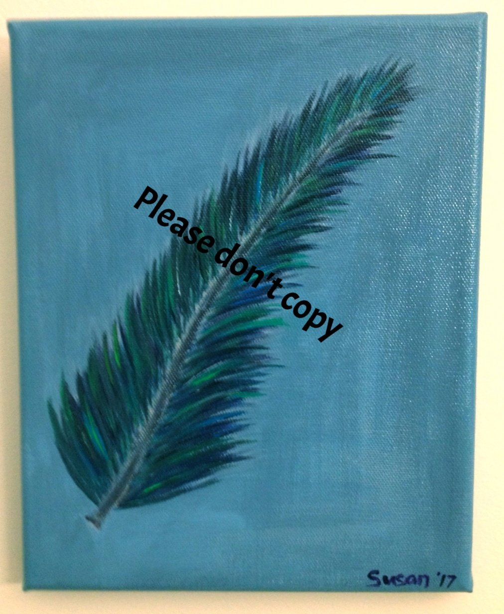 Feather 8 x 10 Acrylic