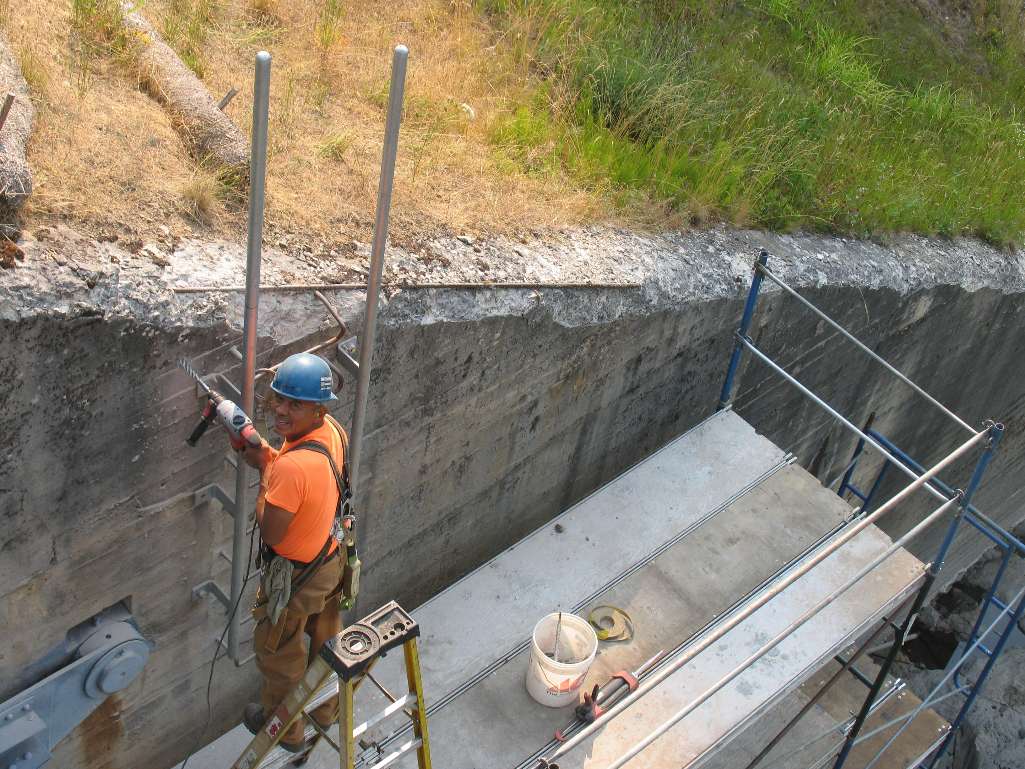 North Folk Dam Access Platforms