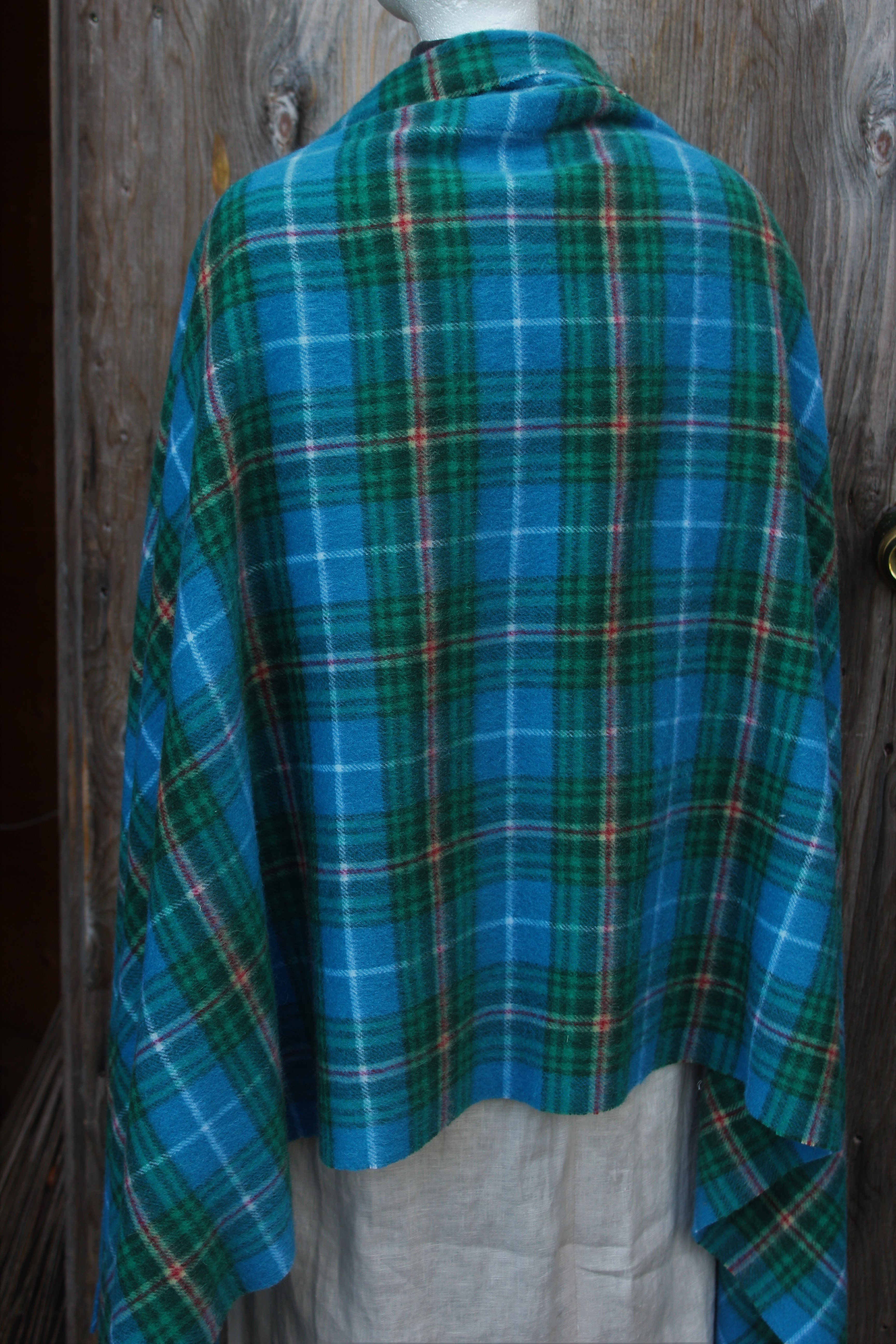 Nova Scotia Tartan Cape- $136.00 100% Lambswool, Made in Scotland