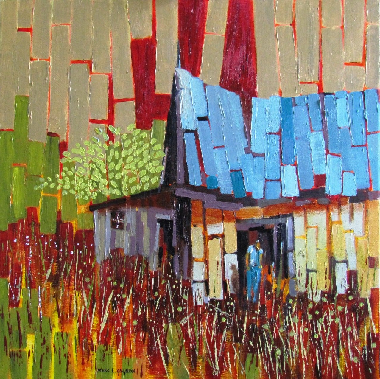 Barn and Bluejeans Acrylic