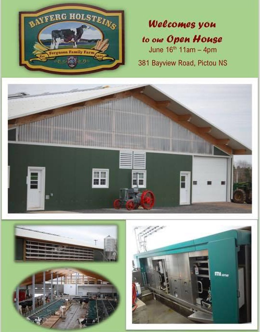Open House - Bayferg Holsteins June 16th, 2018