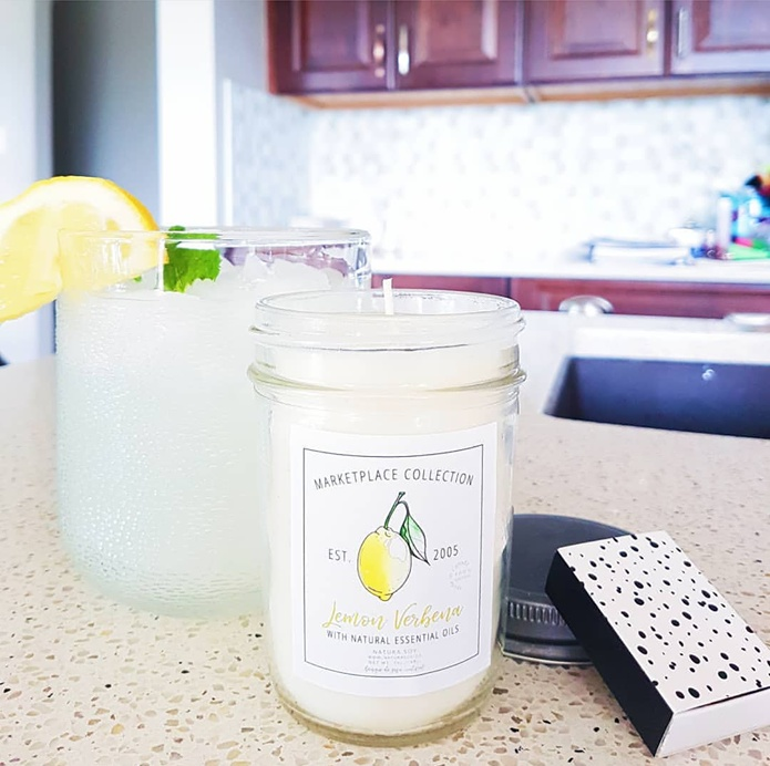A blend of Lemongrass, lemon, earthy green sage and fresh ginger.