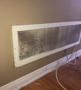 Seeing a return air vent like this means, time to clean your ventilation system.