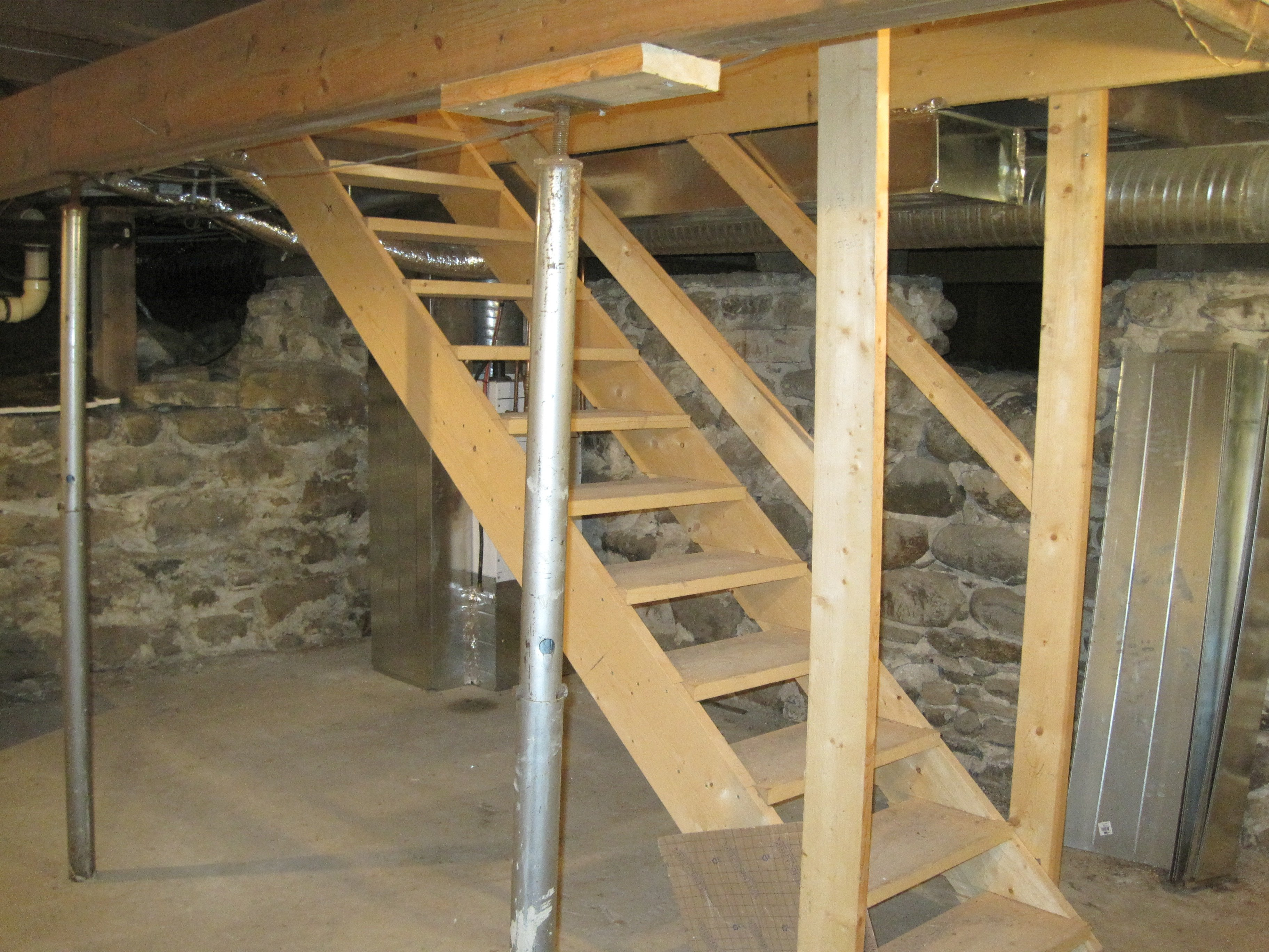 Basement of the OBH. Note the original stone foundation!  Photo Credit: Wendy Quist