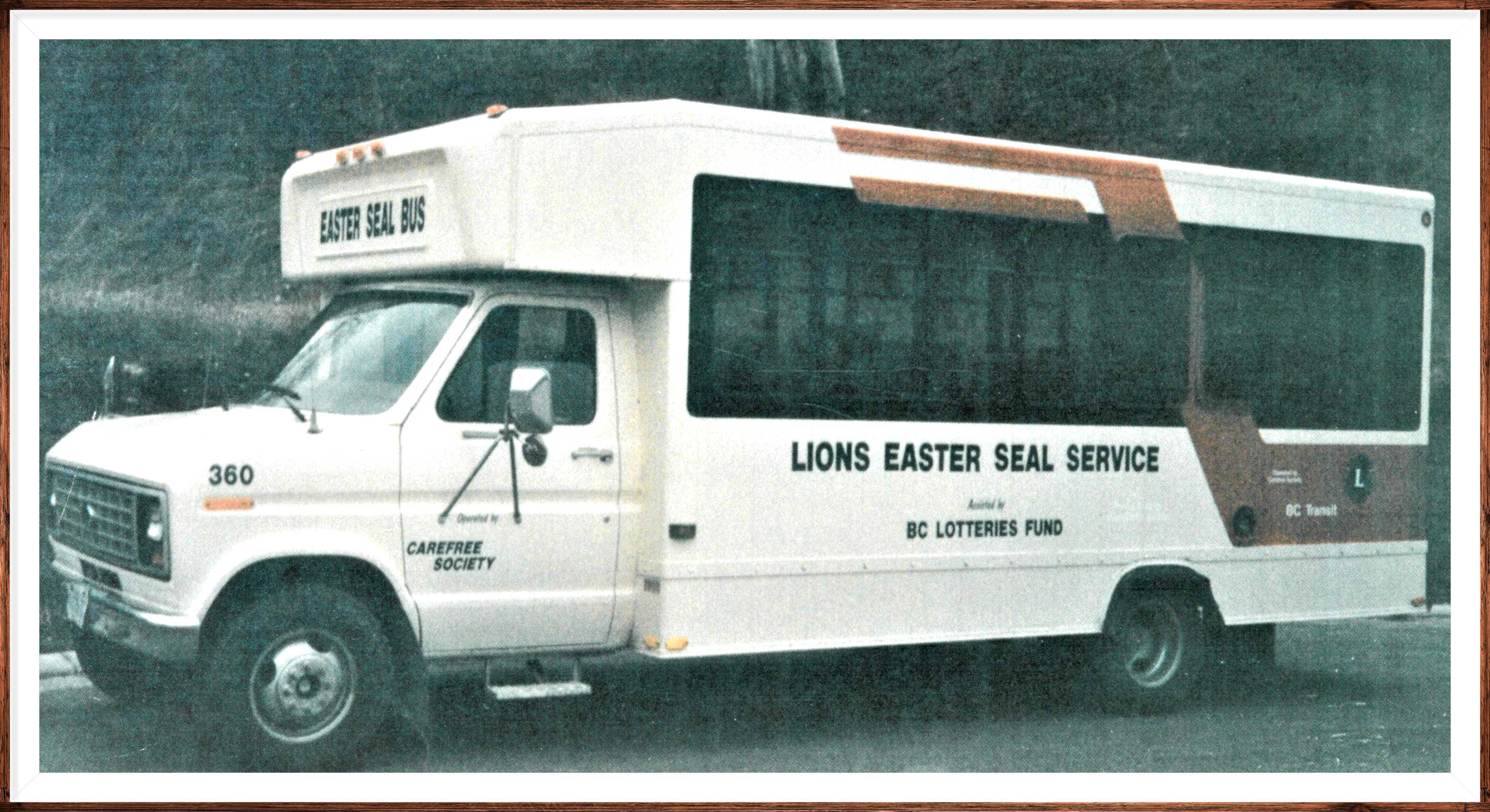 Lions Club donated bus.