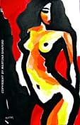 Mysterious Nude On Red original painting abstract female fine art nudes