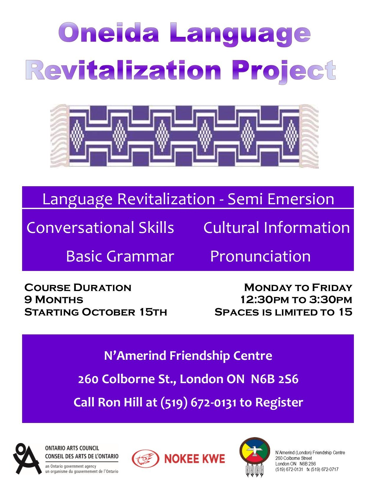 oneida language flyer