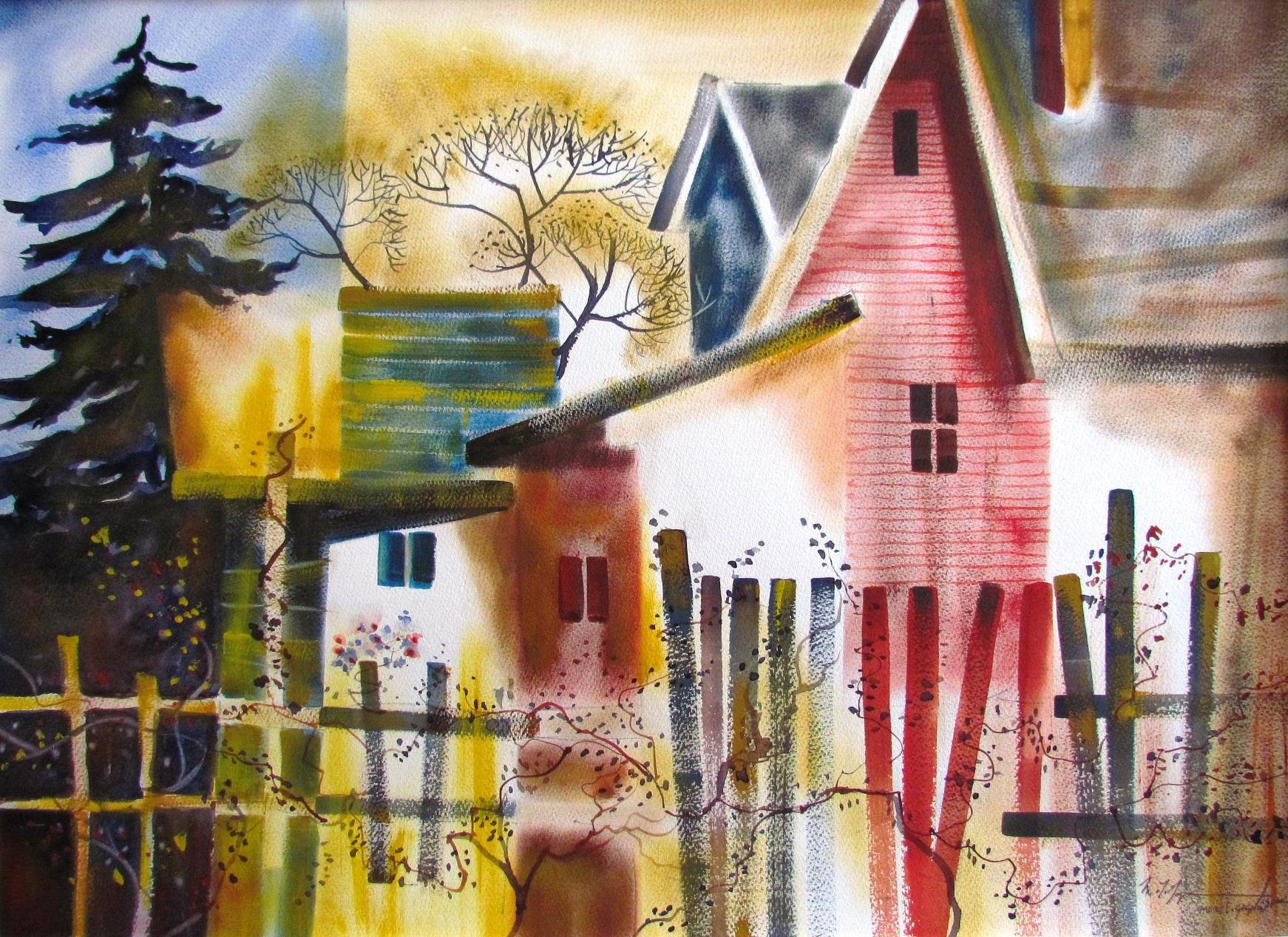 Port Hope House  Watercolour
