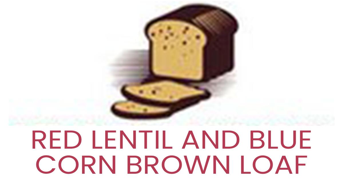 Red Lentil and Blue Corn Brown Loaf
