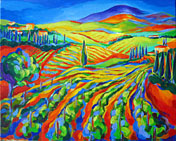 tuscany vineyard original painting