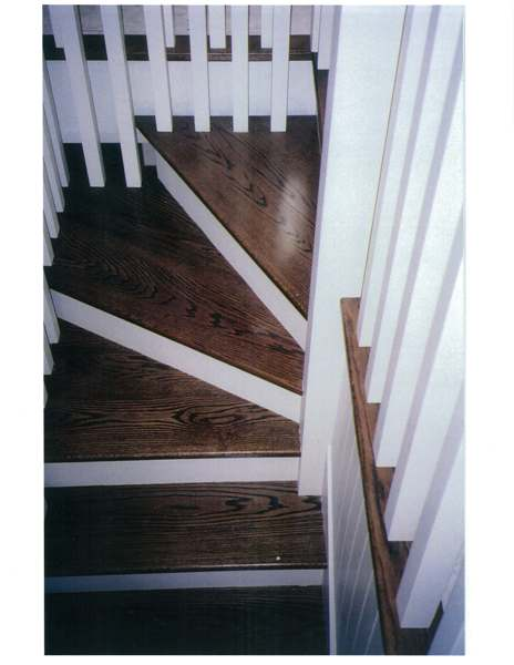 Winder stair with oak treads