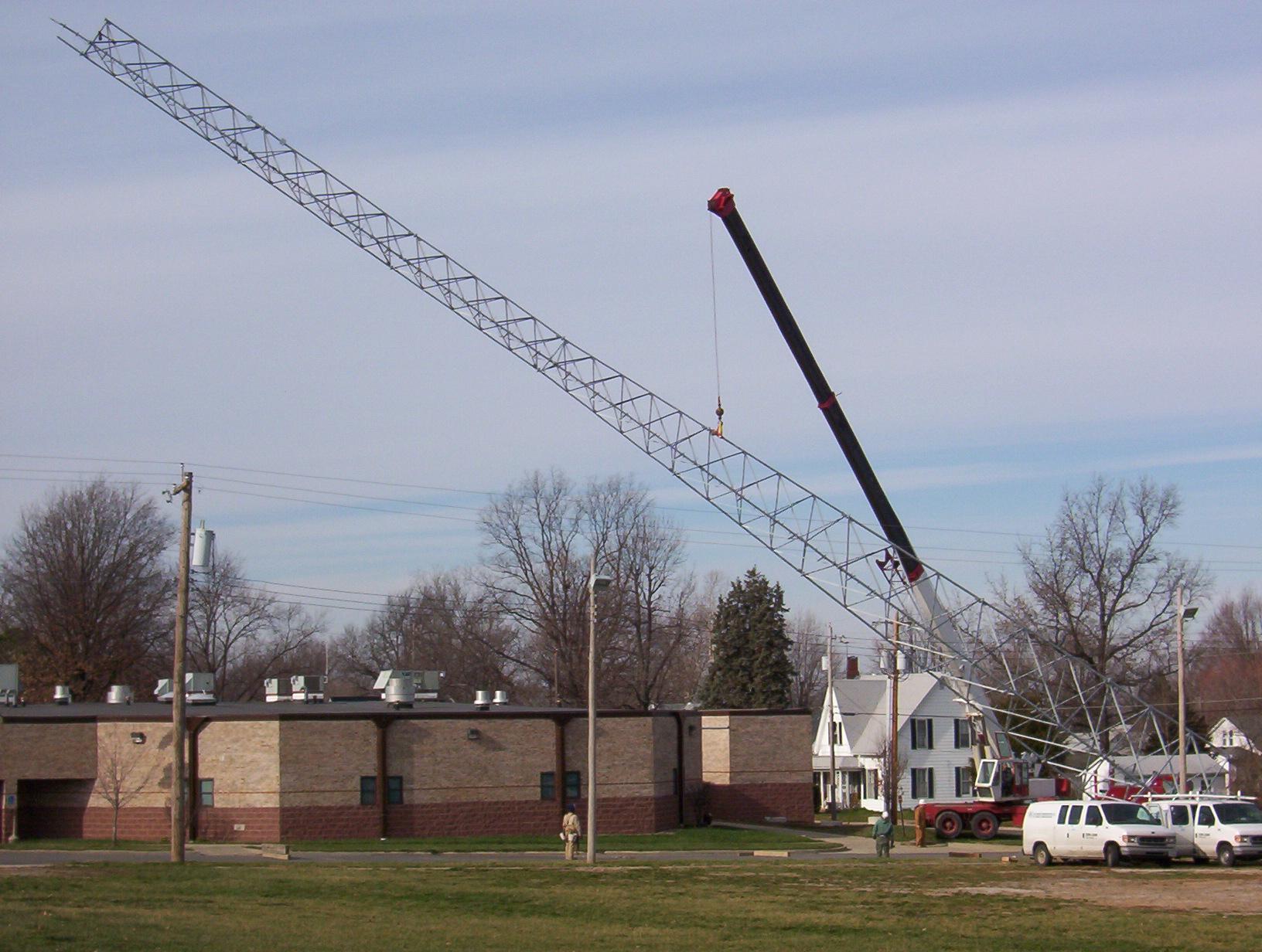 Raising an 180ft Tower