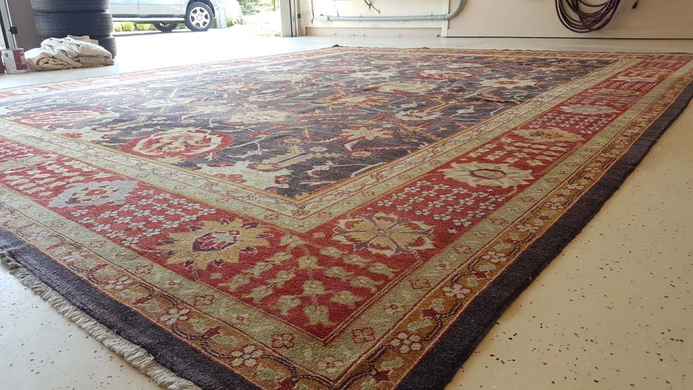 This rug was 40 years old in great condition. It was 24 x 12 feet