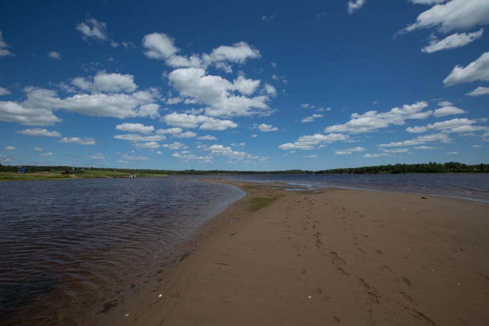 A view to the east from the sand bar