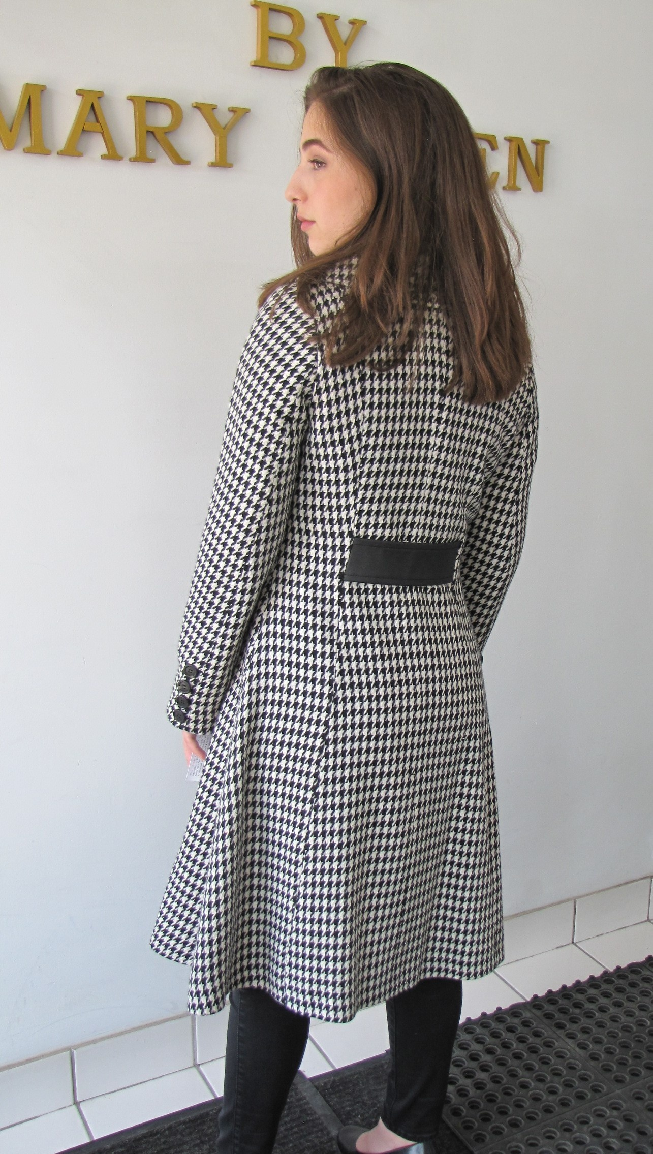Style # B6497 -17 Houndstooth  100% Pure Virgin Wool - Back View