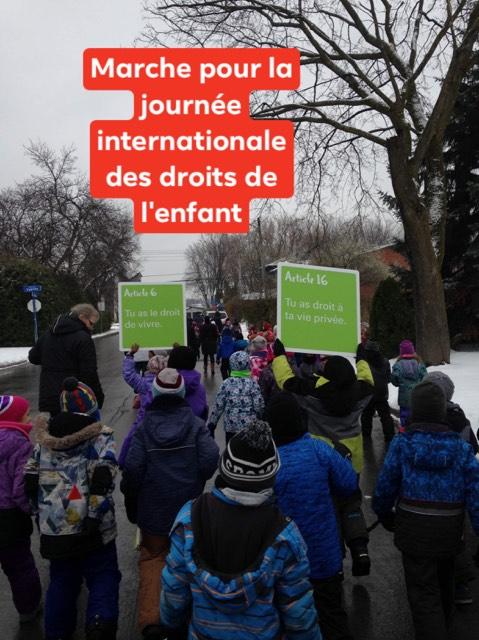 Marche pour les droits de l'enfant novembre 2019