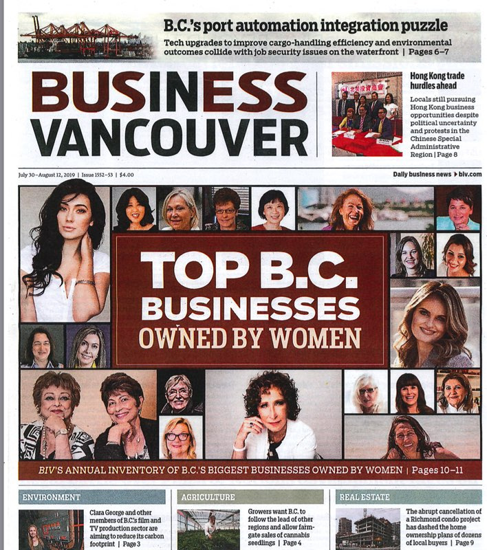 Top BC woman owned business