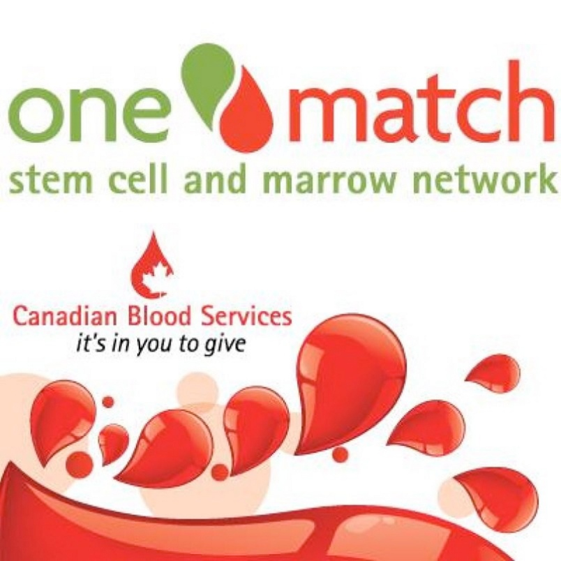 We support the Canadian Blood Services, One Match!