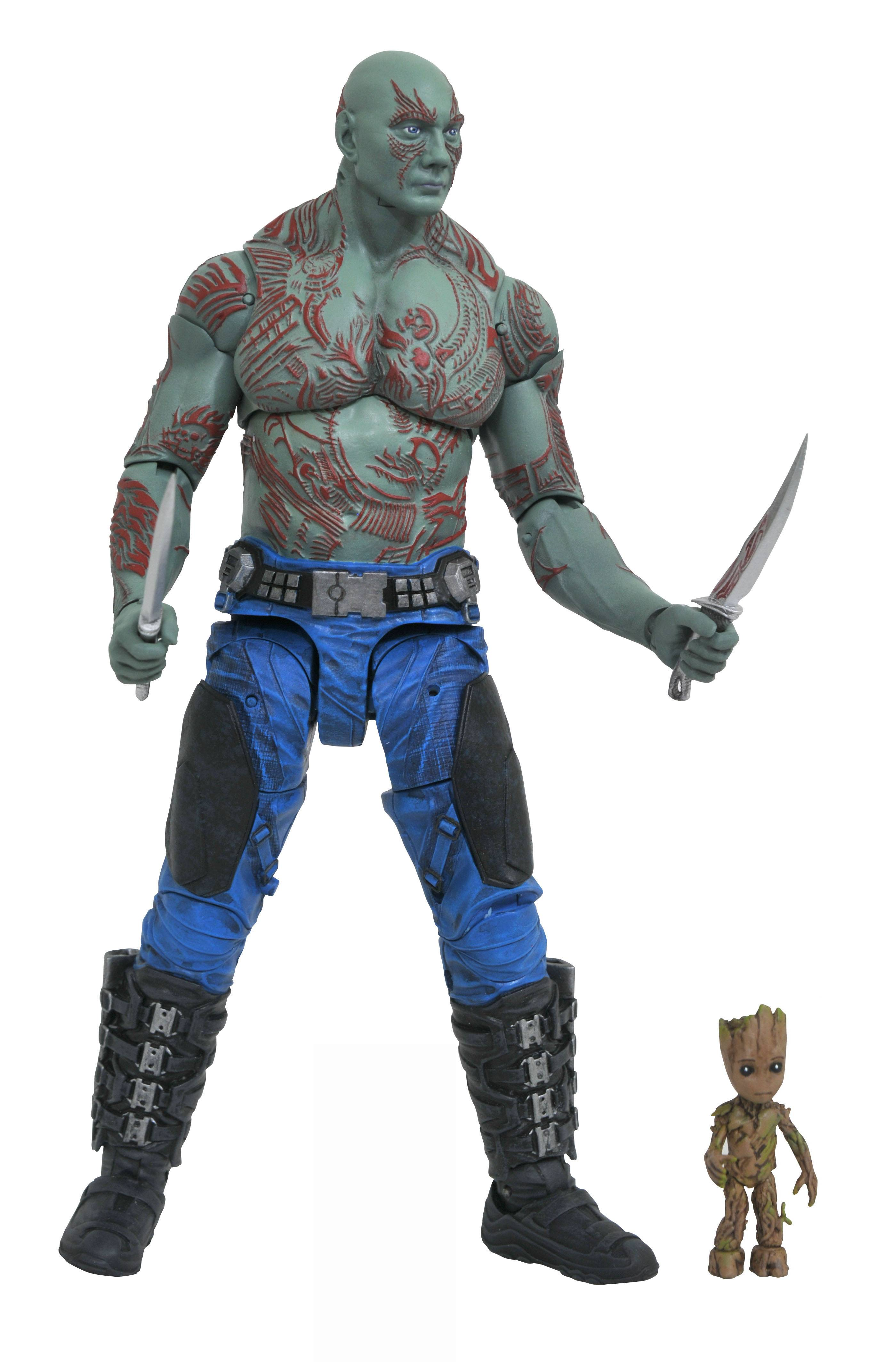 MARVEL SELECT GOTG 2 DRAX & BABY GROOT AF